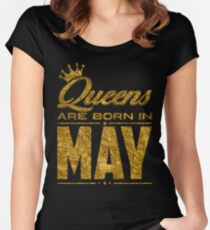 Legends Queens are born in may Women's Fitted Scoop T-Shirt