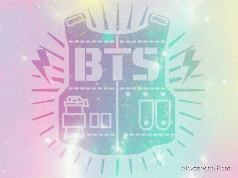 """BTS Pastel Galaxy"" Art Prints by alexxkpopstore | Redbubble"