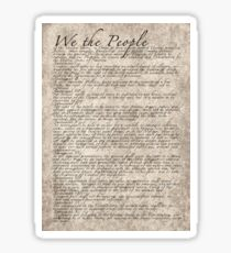 US Constitution - United States Bill of Rights Sticker