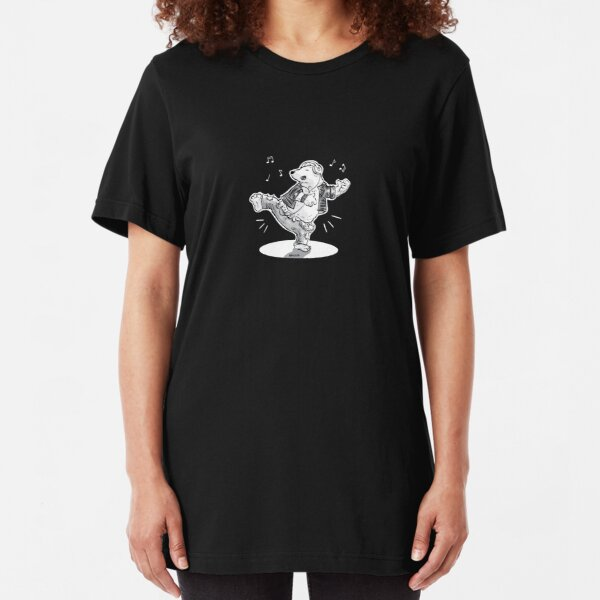 Rockin' Polar Bear Slim Fit T-Shirt