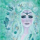 Issiana Mermaid with seahorses by Renee L Lavoie by Renee Lavoie