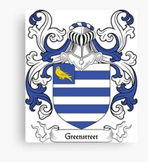 Greenstreet Coat of Arms Canvas Print