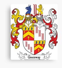 Greenway Coat of Arms Canvas Print