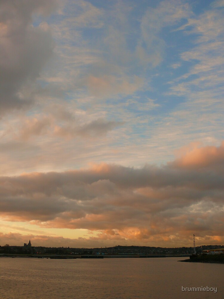 Sunset over the river (2) by brummieboy