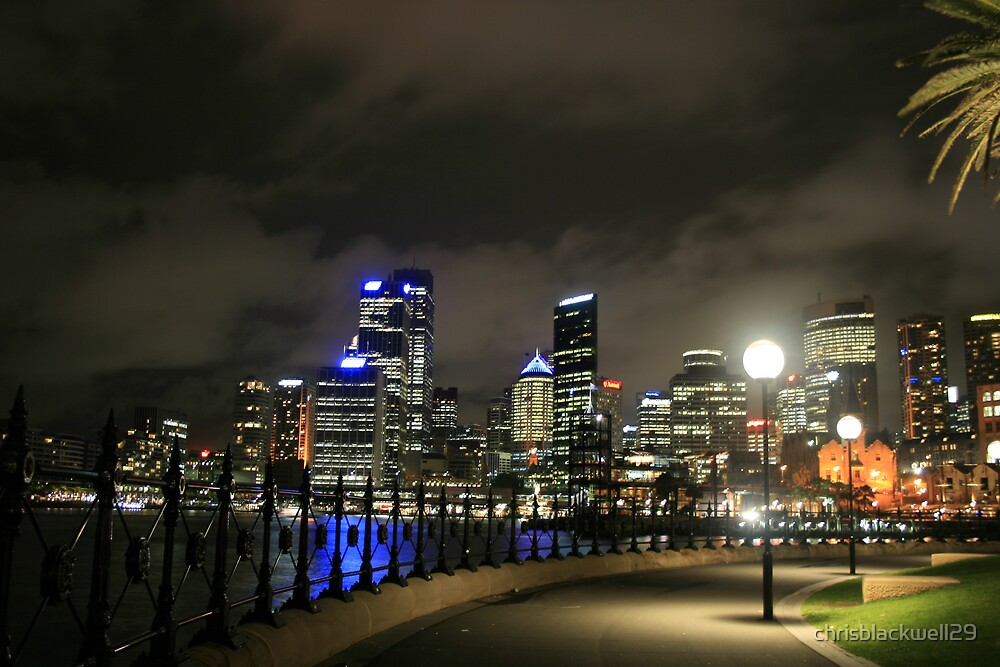 circular quay at night  by chrisblackwell29