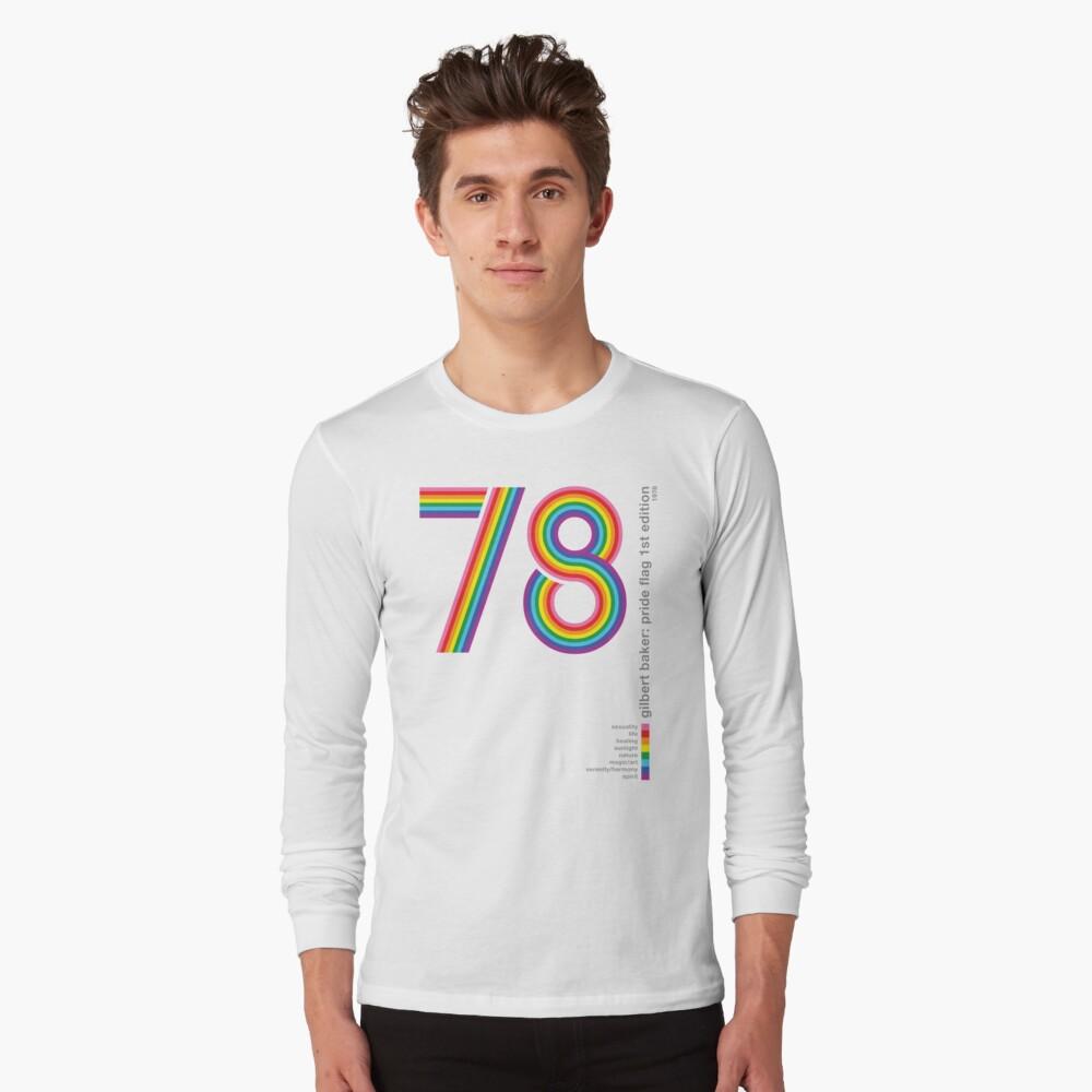 Pride Flag 1978: Gilbert Baker Homenaje Camiseta de manga larga