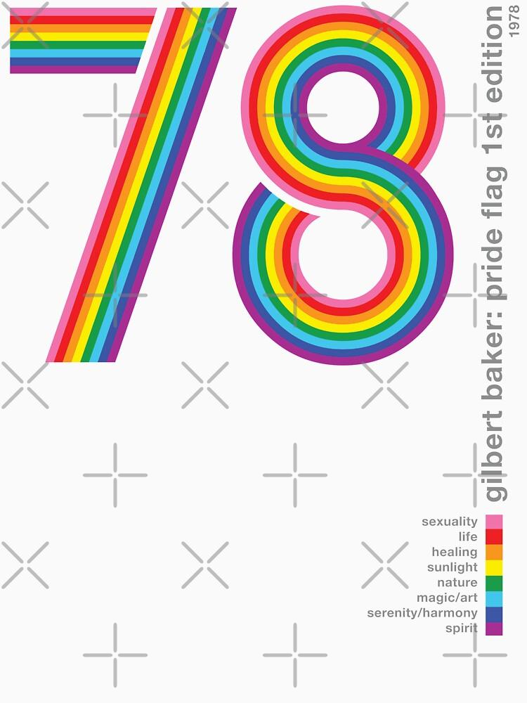 Pride Flag 1978: Gilbert Baker Homenaje de BendeBear