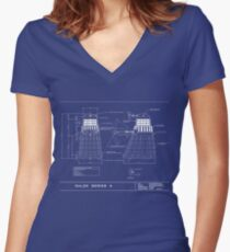 Exterminate Schematic Women's Fitted V-Neck T-Shirt