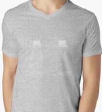 Exterminate Schematic Mens V-Neck T-Shirt