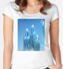 Ice blue sky Women's Fitted Scoop T-Shirt