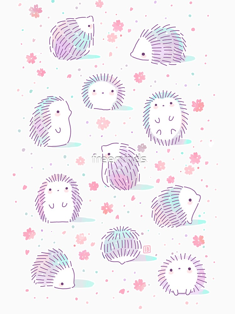 Spring Hedgehog Pattern by freeminds