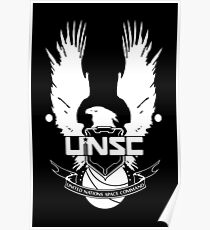 HALO - United Nations Space Command Logo Poster