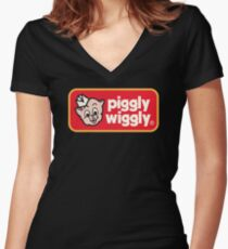 Piggly Wiggly T-Shirt Retro 70's 80's Vintage Country Women's Fitted V-Neck T-Shirt