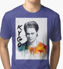Colorful fanmade portrait of Kygo Tri-blend T-Shirt