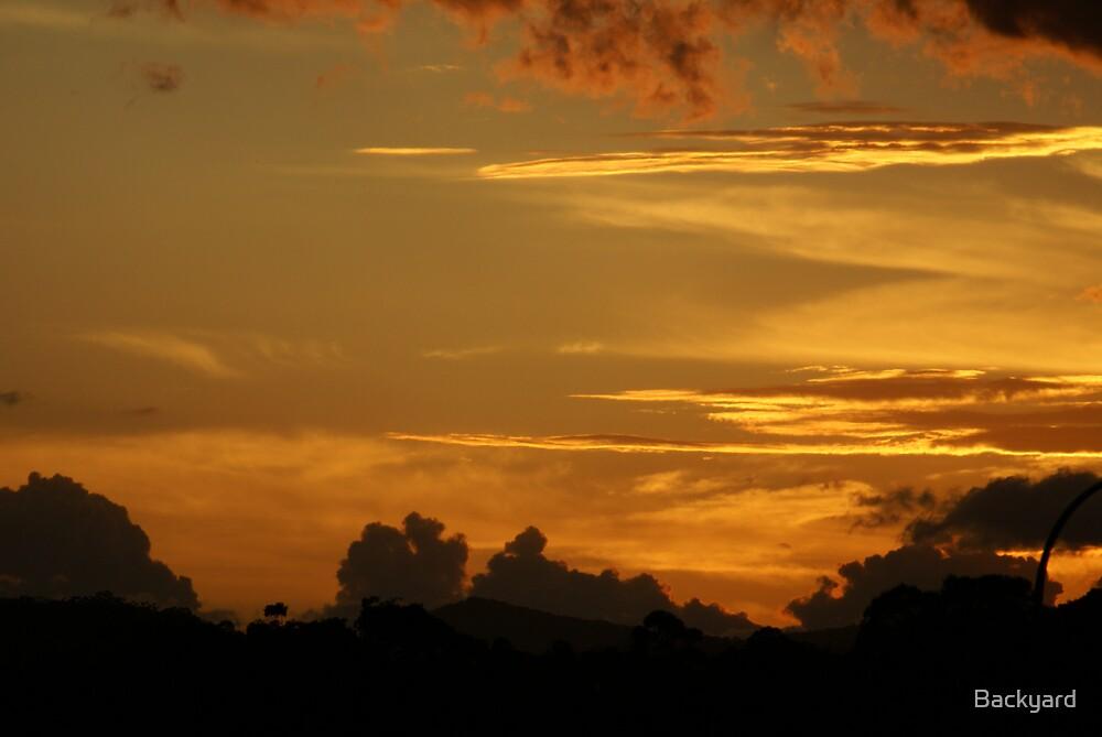 Sunset by Backyard