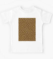 Giraffe Skin Pattern Kids Tee