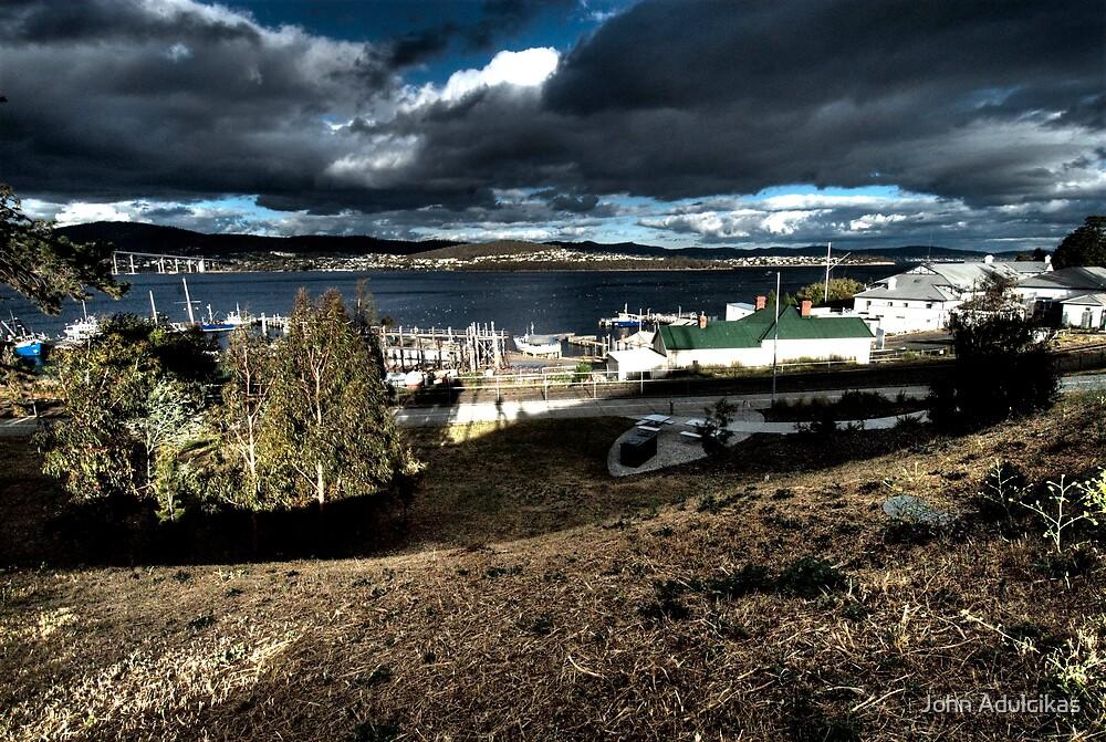 harbor at hobart by John Adulcikas