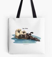 Sea Otter with pup Tote Bag