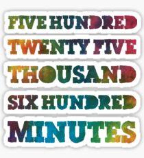 Rent - Seasons of Love Rainbow Gradient Sticker