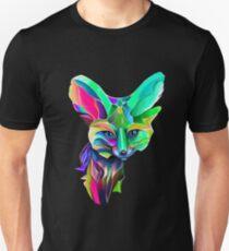 Kaleidoscope Fox Remix; Geometric Beat Poetry T-Shirt
