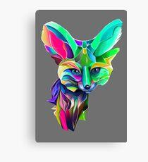 Kaleidoscope Fox Remix; Geometric Beat Poetry Canvas Print