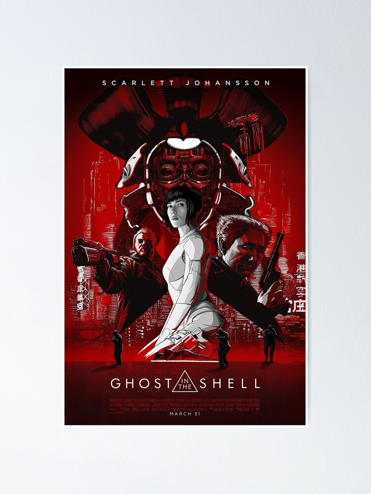 Ghost In The Shell 2 Poster By Yourfaceinhd Redbubble