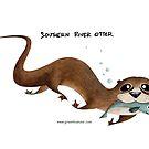 Southern River Otter by rohanchak