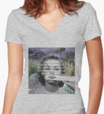 He Loves Me / He Loves Me Not Women's Fitted V-Neck T-Shirt