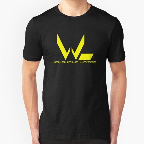 Yellow Walskifilm Logo Slim Fit T-Shirt