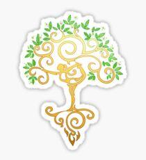 Yoga Tree Sticker