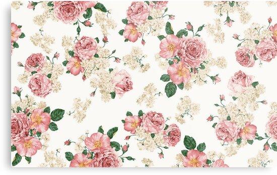 floral pattern tumblr Pink