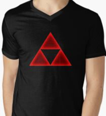 Red Triforce Men's V-Neck T-Shirt