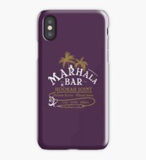 Marhala Bar - Indiana Jones Hookah Gold Joint iPhone Case/Skin