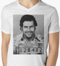 Pablo Escobar Mugshot Men's V-Neck T-Shirt