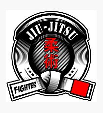 Jiu-Jitsu Fighter Belt Photographic Print