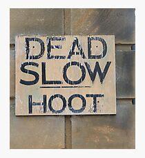 Dead Slow Hoot Photographic Print