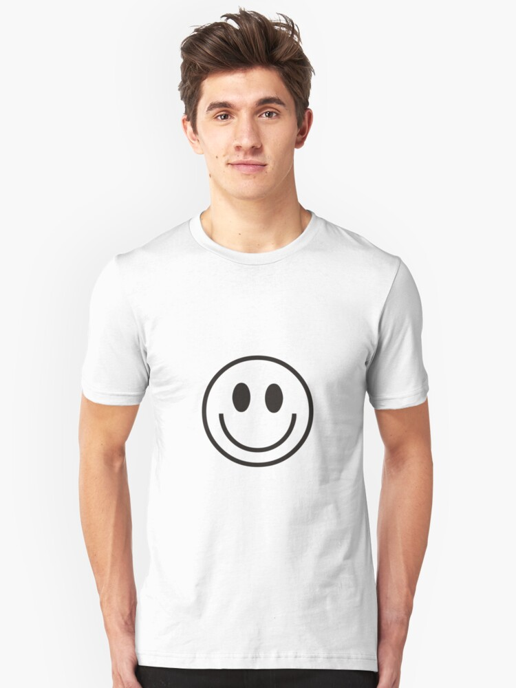 SMILEY FACE TOO Unisex T-Shirt Front