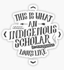 Indigenous Scholar (Gray) Sticker