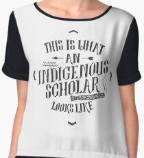 Indigenous Scholar (Gray) Chiffon Top