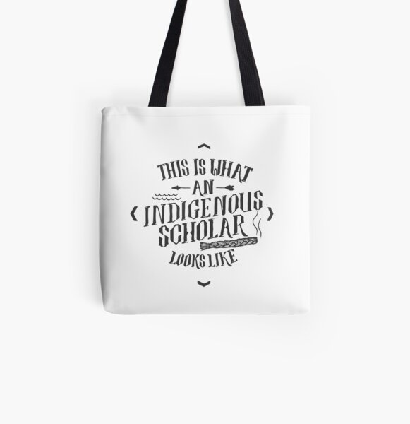 Indigenous Scholar (Gray) All Over Print Tote Bag