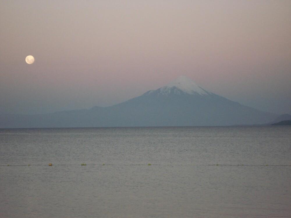 Volcano at Sunset by Zac Gillett
