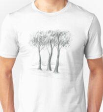 Sous les pins au bord de la mer Unisex T-Shirt