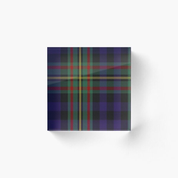 MacLennan Clan/Family Tartan  Acrylic Block