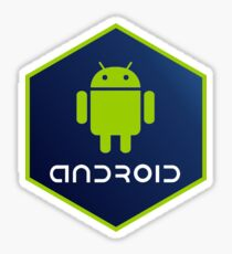 hexagonal android Sticker