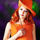 Portrait of The Girl in the Orange Hat by ChasSinklier