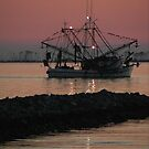 Shrimp Boat at Twilight by Jonicool