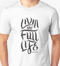 Livin the Full Life John 10 10 Christian Bible Verse Motivational  T-Shirt