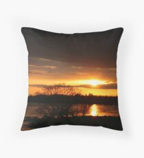 SUNSET ON THE PRAIRIE Throw Pillow
