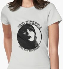 Joni Mitchell 1972 For The Roses Vintage Emblem  Womens Fitted T-Shirt