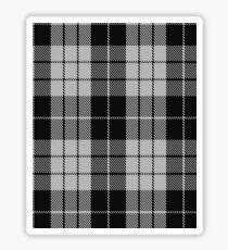 MacLeod Black & White Clan/Family Tartan  Sticker